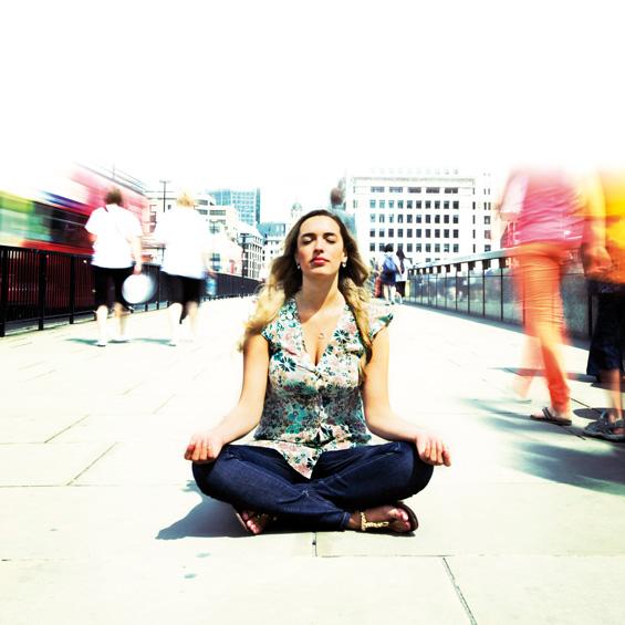 calm serene woman
