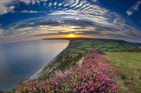 Jurassic-Coast-from-the-Golden-Cap-Dorset-England