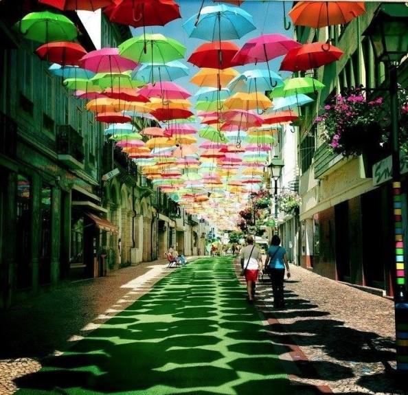 serenity happy color umbrella